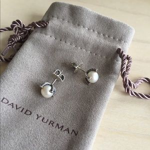 be73f1ef68c7 David Yurman Jewelry - David Yurman small pearl earrings with diamonds❣️